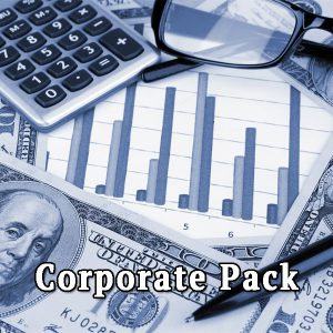 Dollars and calculator, pack corporate