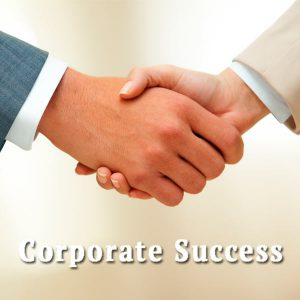 Handshake, corporate success