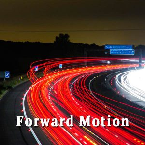 Night highway, forward motion