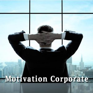 Man by the window, motivation corporate