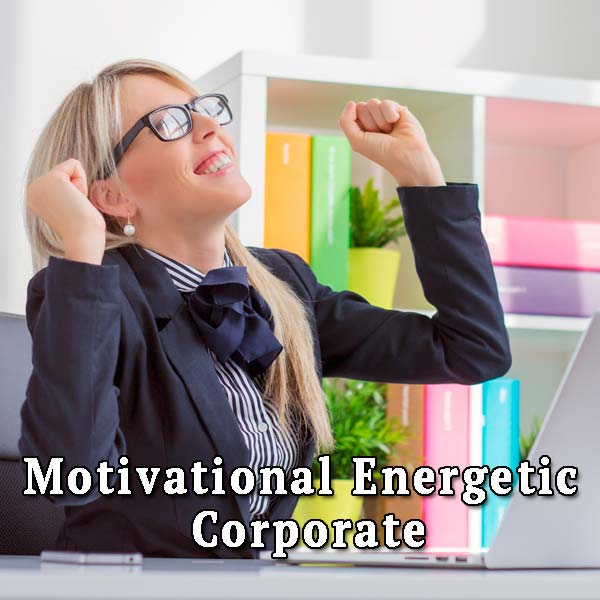 Happy business woman, energetic corporate