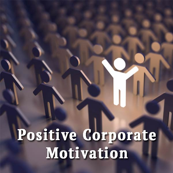 Man in the crowd, positive corporate motivation