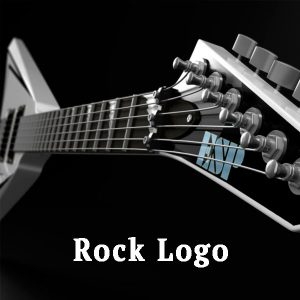 electro guitar, rock logo