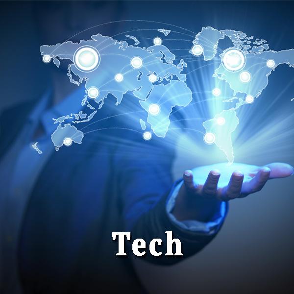 Technology in hand, tech