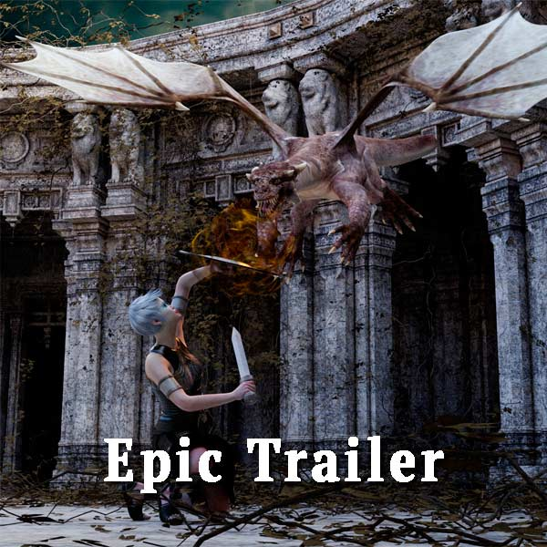 Woman and dragon, epic trailer