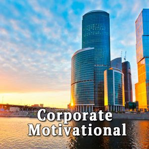 Skyscrapers over water, Corporate motivational