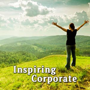 Woman in the mountains, inspiring corporate