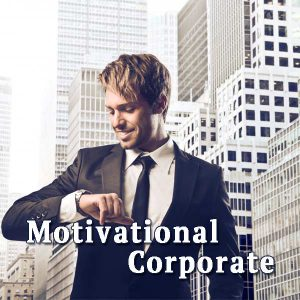 Man looks at his watch, Motivational Corporate