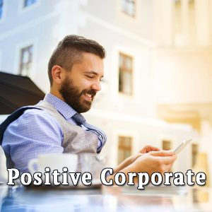 Businessman with phone, Positive Corporate