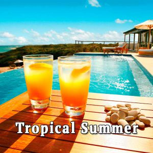 relax by the pool, tropical summer
