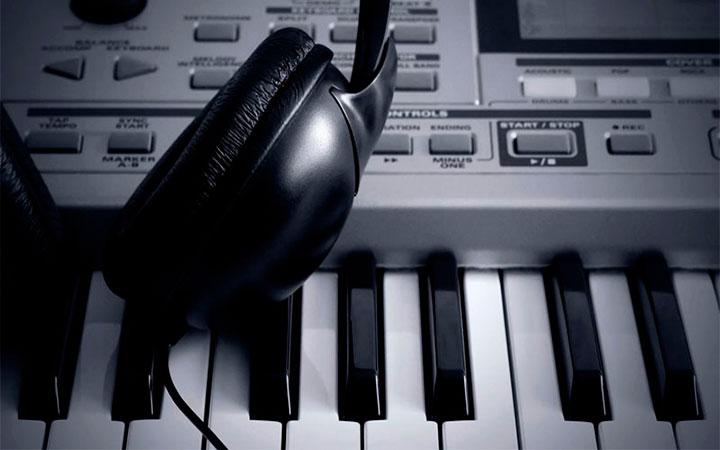 pianos and earphones